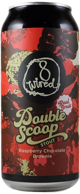 8 Wired Double Scoop Raspberry Chocolate Brownie Stout 440ml