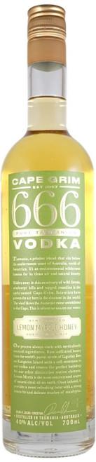Cape Grim 666 Lemon Myrtle Honey Vodka