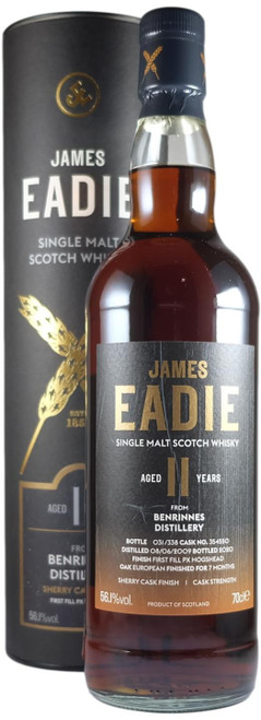 James Eadie Benrinnes 11-Year-Old Sherry Cask Finish
