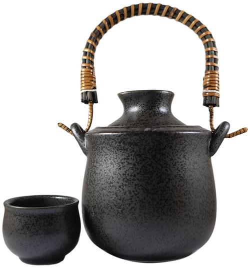 Sake Warmer (Bucket and Tokkuri) with Cup