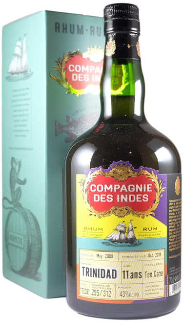 Compagnie Des Indes Trinidad Ten Cane  11-Year-Old Single Cask Rum
