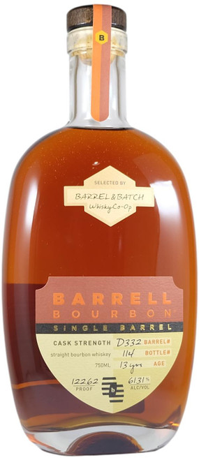 Barrell Bourbon Single Barrel For Barrel & Batch