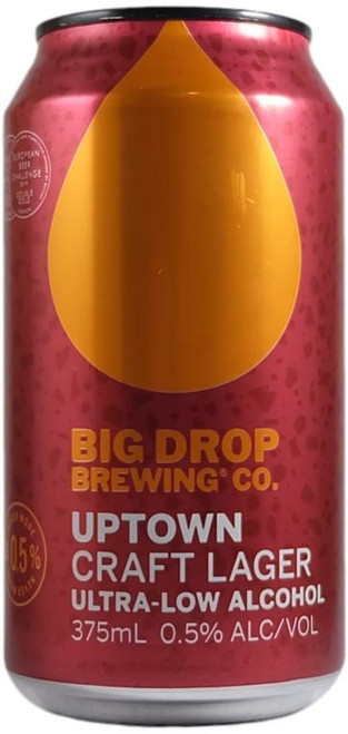 Big Drop Uptown Craft Lager - Low Alcohol