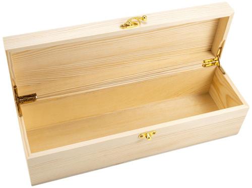 Wooden Box Single Premium Hinged Lid