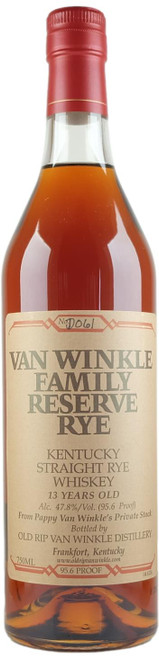 Van Winkle Family Reserve Rye 13-Year-Old (2013 bottling)