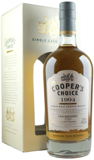 Cooper's Choice 1994 27-Year-Old Old Rhosdhu (Loch Lomond)