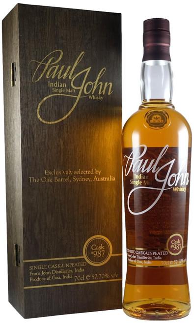 Paul John Cask #987 Oak Barrel Exclusive