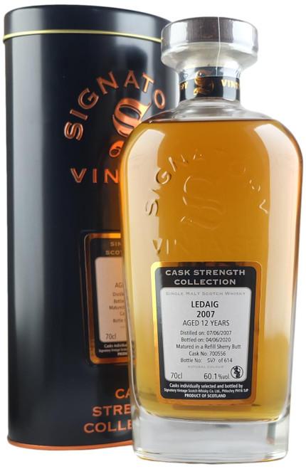 Signatory Vintage Ledaig 2007 12-Year-Old Single Cask Scotch Whisky