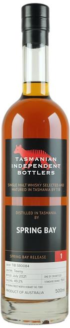 Tasmanian Independent Bottlers Spring Bay #1 Single Malt Whisky