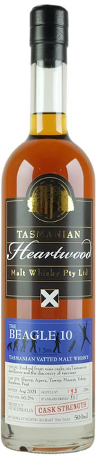 Heartwood The Beagle 10 Tasmanian Vatted Malt Whisky
