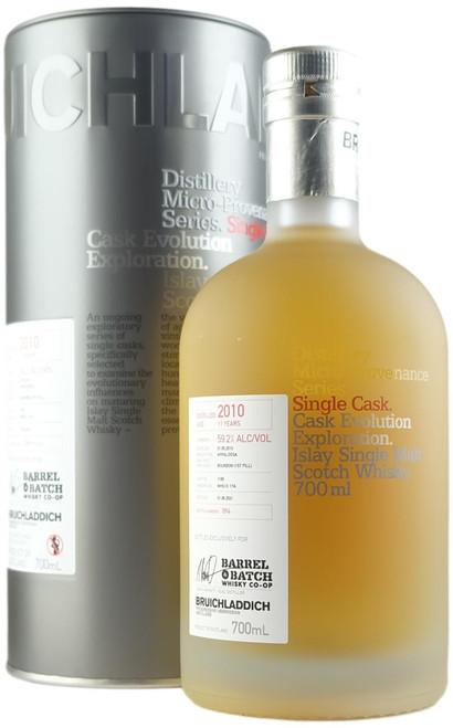 Bruichladdich 2010 11-Year-Old Single Cask Islay Single Malt Scotch Whisky