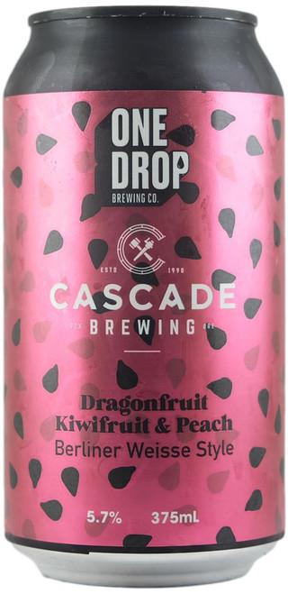 One Drop / Cascade - Dragon Fruit, Kiwi Fruit & Peach Berlinner Weisse