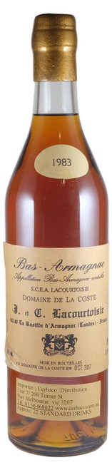 Lacourtoisie 1983 Bas Armagnac