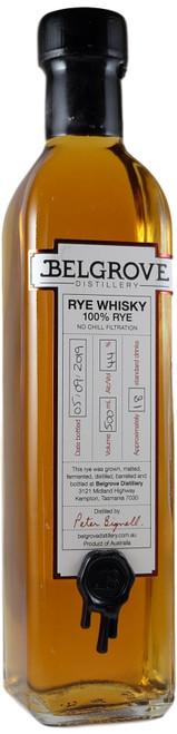Belgrove Tasmanian Rye Whisky