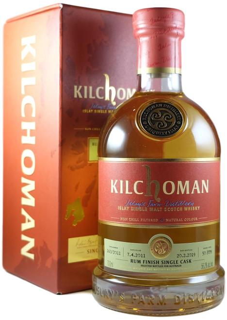 Kilchoman Australian Exclusive Rum Finish Single Cask