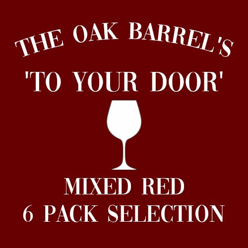 Oak Barrel's 'To Your Door' Red Wine 6 Pack Selection
