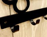 metal wall hung key rack