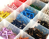 multi coloured powder coated screws
