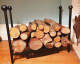metal log holder, personalised