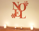 noel christmas decoration sign on matlepiece