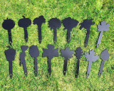 15 plant markers metal