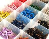 Box of coloured Screws
