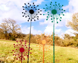 set of 4 allium garden stakes