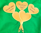 Set of 5 Heart Plant Markers
