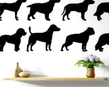 lots of dog designs wall art sculpture