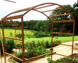 Natural Finish Rusty Garden Arch