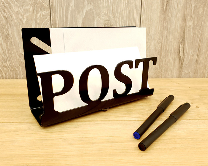 metal letter post storage rack