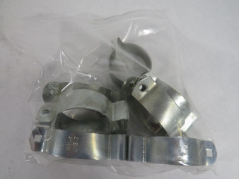 """Generic #5 Pregalvanized Steel Pipe Clamp w/o Bolt 2""""EMT/HM Lot of 8 ! WOW !"""