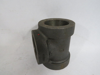 """Anvil 1105-50 Black Malleable Iron Threaded Straight Tee Coupling 2"""" ! NOP !"""