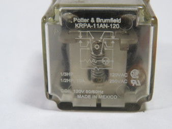 Potter /& Brumfield KRPA-11AN-120 Plug-In Relay 120Vac 10A 8 Pin DPDT  USED