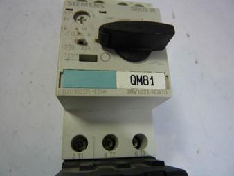 Siemens 3RV2011-0HA10 Breaker Switch 0.55A-0.8A  USED