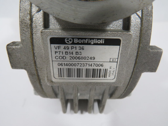 Bonfiglioli VF49P136-P71B14B3 Right Angle Worm Reducer 36:1 Ratio 88Nm ! WOW !