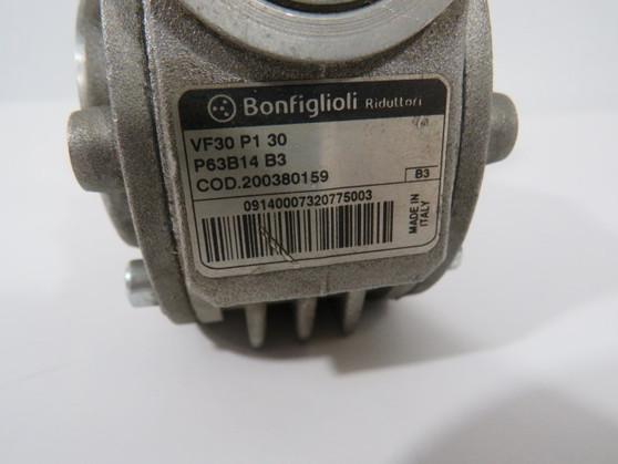Bonfiglioli VF30P130-P63B14B3 Right Angle Worm Reducer 30:1 Ratio 24nm ! WOW !
