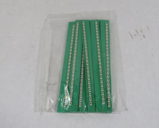 """Grafoplast 117MAABW Trasp Wire Marker """"A"""" Approx 20/Strip Lot of 17 ! NOP !"""
