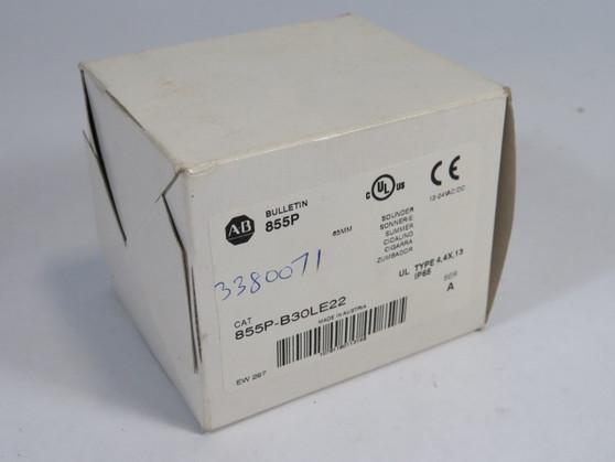 Allen-Bradley 855P-B30LE22 Panel Mount Sounder 12-24V AC/DC 65mm Dia ! NEW !