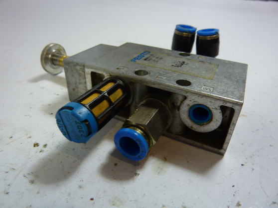 Festo MFH-5-1/8 Solenoid Valve w/ Manual Override 10 Bar/145 PSI ! WOW !