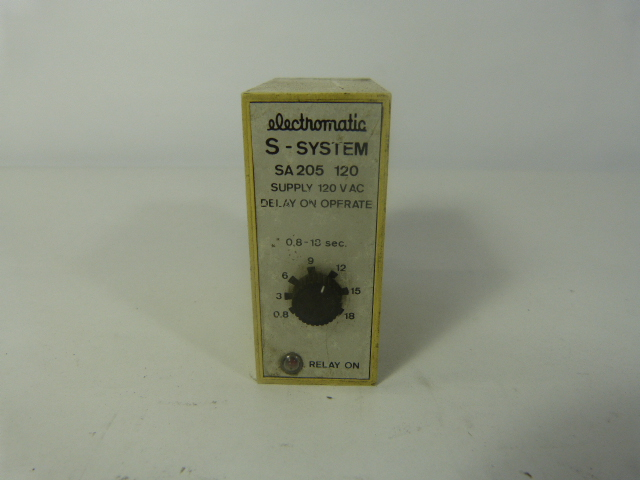 Electromatic On Delay Timer Relay  SA205120  0.15-3 Seconds