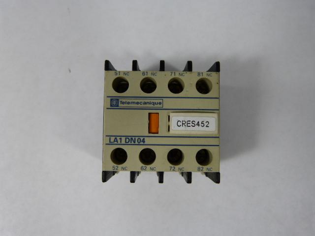 Telemecanique Auxiliary switch block la1dn04 NEW!!!