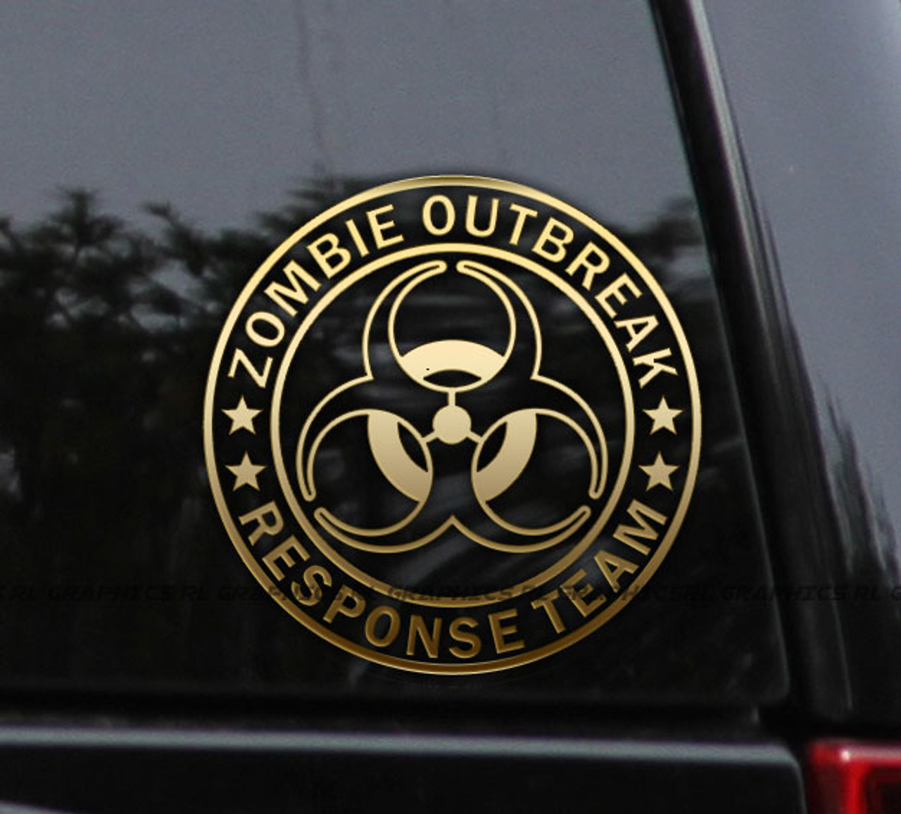Zombie Outbreak Response Team Decal Vinyl Sticker Car Window