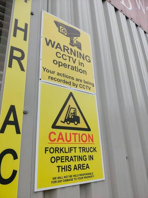 145 x 210mm Foamex Signs