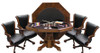 CL Bailey Hybrid Level Best 3-in-1 Combo Table with 4 Winslow Chairs