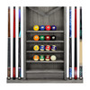Imperial Deluxe Wall Cue Rack, Silver Mist