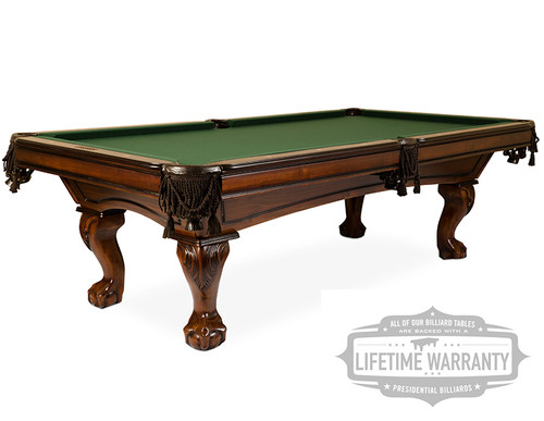 New Presidential Billiards Monroe Pool Table For Sale