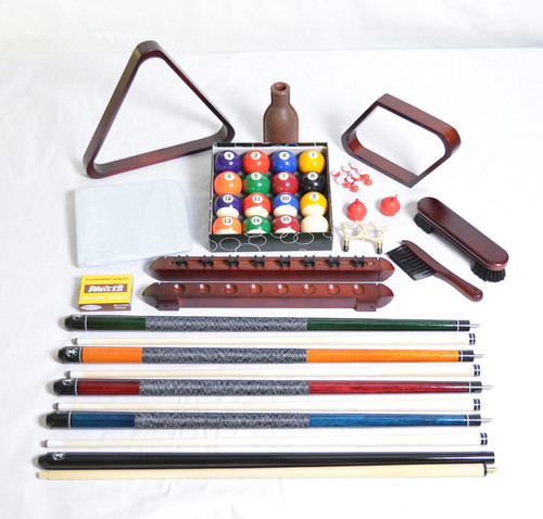 Mahogany Deluxe Accessory Kit For Pool Tables