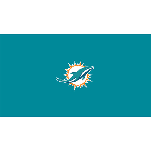 Miami Dolphins 8 Foot Pool Table Cloth
