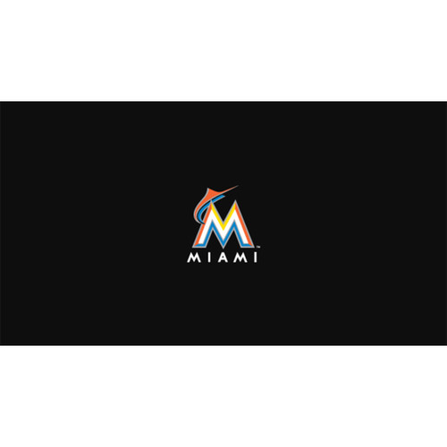 Miami Marlins 8 Foot Pool Table Cloth